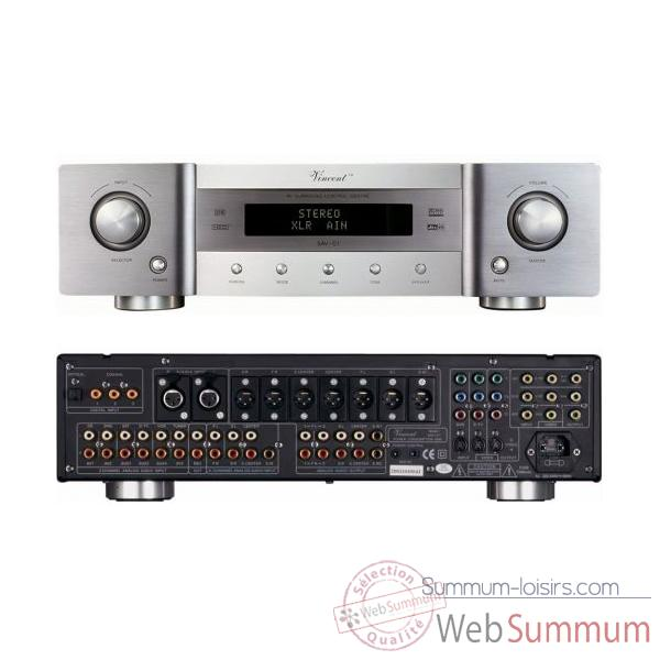 Amplificateur Audio/Video Vincent SAV-C1 Decodeur Preamp 6.1 XLR - Argent - 203168