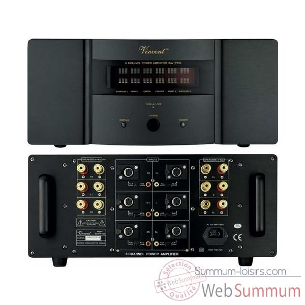 Amplificateur Audio/Video Vincent SAV-P150 Ampli 6 canaux - Noir - 203374