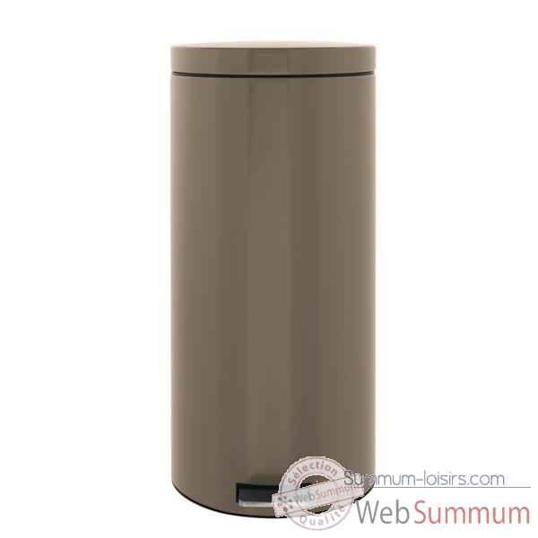 Brabantia poubelle p dale 30 l taupe de cuisine dans poubelle sur summum loisirs - Poubelle brabantia 50 l ...