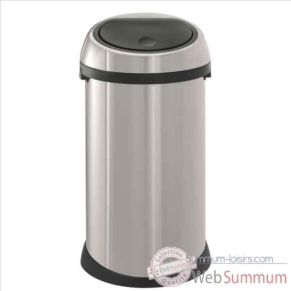 brabantia poubelle touch bin 50 l 500385 de cuisine dans poubelle sur summum loisirs. Black Bedroom Furniture Sets. Home Design Ideas