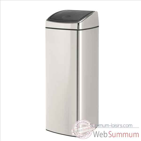brabantia poubelle touch bin 25 l rectangulaire brillant. Black Bedroom Furniture Sets. Home Design Ideas