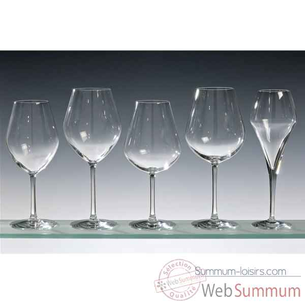 Chef & sommelier lot de 4 flutes 21 cl - arom up floral  5216