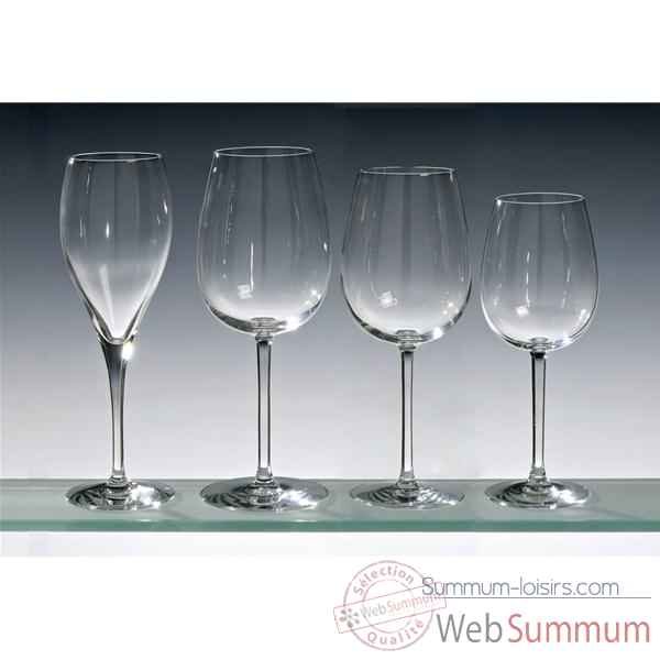 Chef & sommelier lot de 4 flutes 26 cl - oenologue 5211