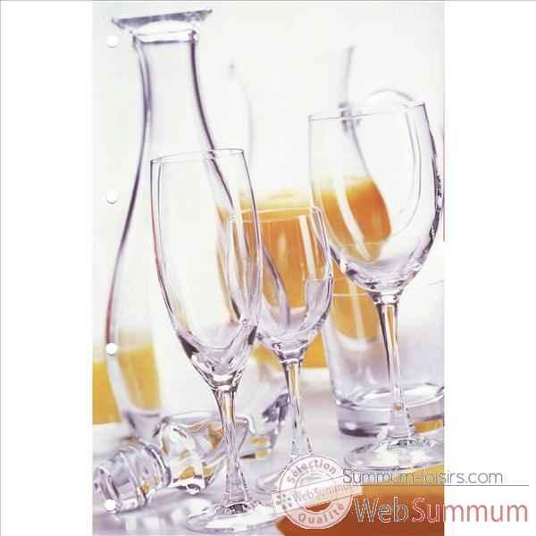 Cristal d 39 arques verre pied 24cl bo te de 6 vicomte dans verre a pied de verre - Bout de verre dans le pied ...