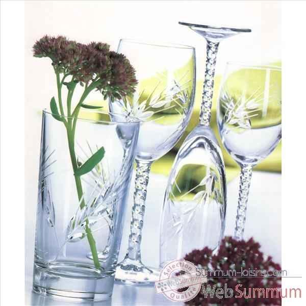 cristal d 39 arques verre pied 25cl bo te de 6 fleury epis 950944 sur summum loisirs. Black Bedroom Furniture Sets. Home Design Ideas
