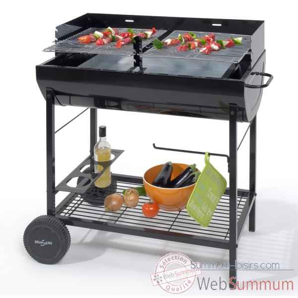 barbecue a charbon avec chariot - brasero Cuisine -11321