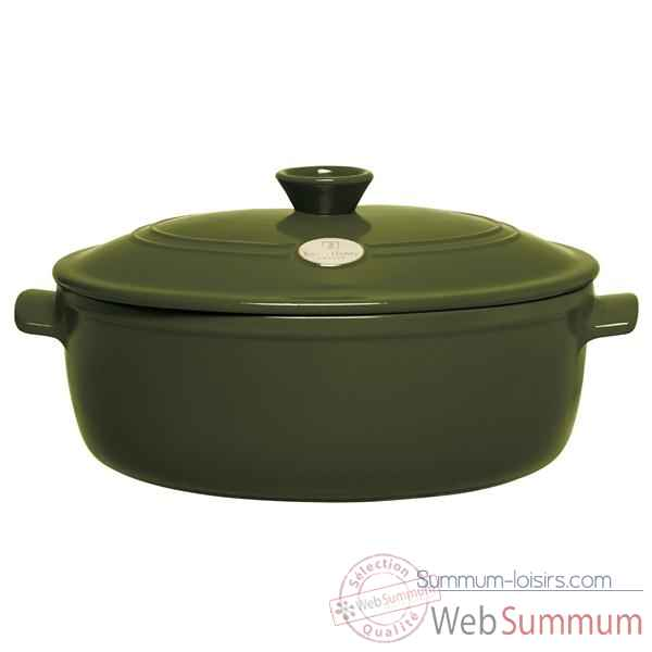 Emile henry cocotte ovale 29 cm olive - flame Cuisine -4384