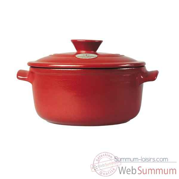 Emile henry cocotte ronde 30 cm rouge - flame Cuisine -20097