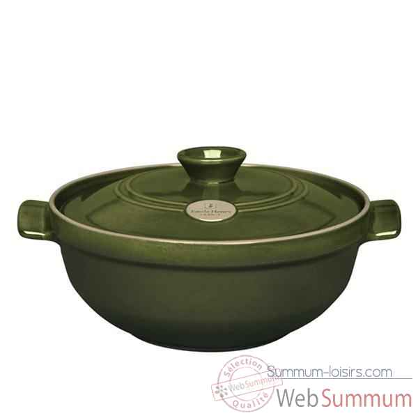 Emile henry faitout risotto 28 cm olive - flame -004287