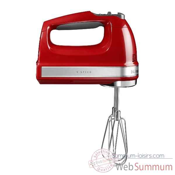 Kitchenaid batteur a main 9 vitesses rouge empire Cuisine -120410