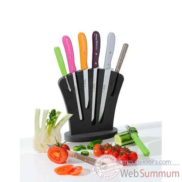 Bloc de couteaux de cuisine fabulous bois bloc de couteau universel pour ensembles de couteaux - Bloc de couteaux de cuisine ...