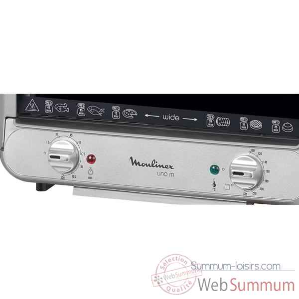 Moulinex four 15 l silver et chrome - uno m 15l -006437