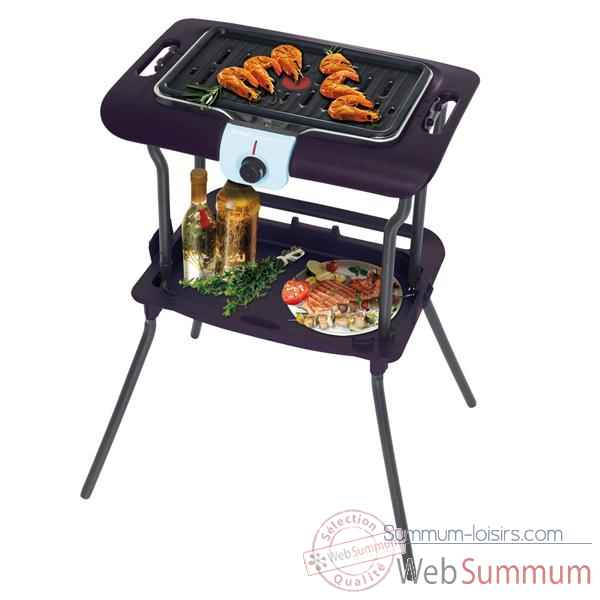 Tefal barbecue sur pied 2100 w cerise noire - eassy grill pack thermo-spot -005514