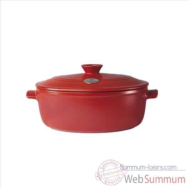 Emile henry cocotte flame ovale  rouge 905223