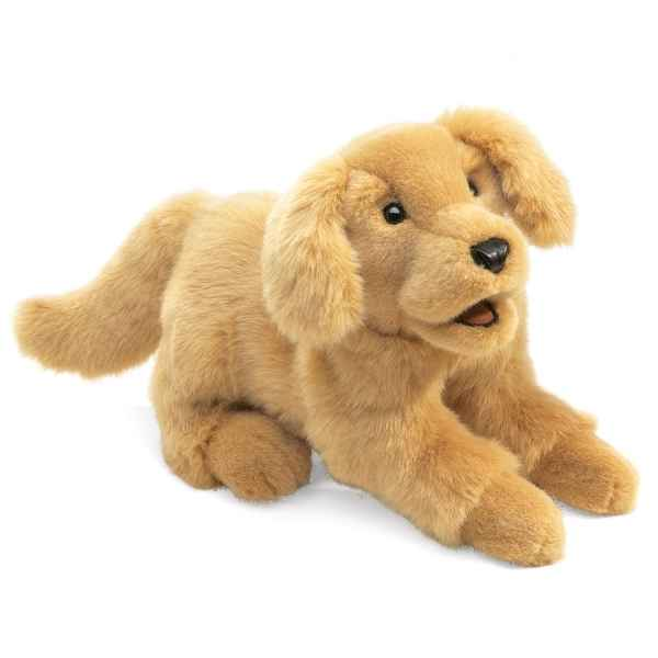 Marionnette peluche Folkmanis Chien Golden Retriever -2862