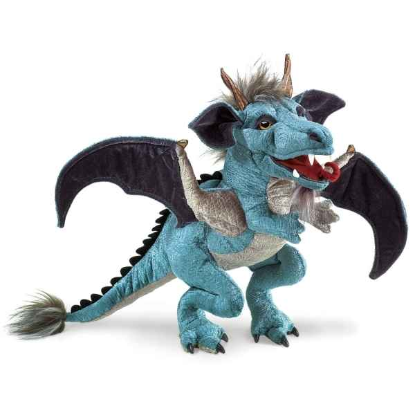 Dragon bleu  Folkmanis -2958