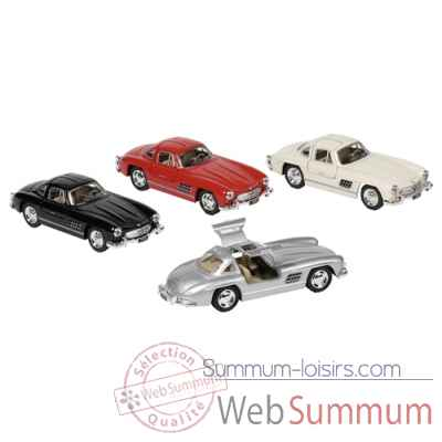 Lot de 4 voiture metal mercedes-benz 300sl coupe (1954) 1:36 a retrofriction Goki -12177