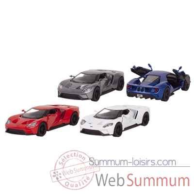 Lot de 4 voitures en metal ford gt (2017) 1:38 a retrofriction Goki -12256