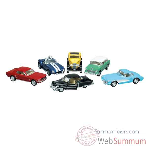 Lot de 6 voitures en metal oldtimer collection 1:32-43 a retrofriction Goki -12189