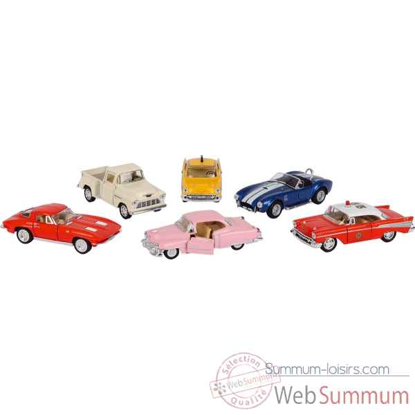 Lot de 6 voitures en metal oldtimer collection 1:32-43 a retrofriction Goki -12240