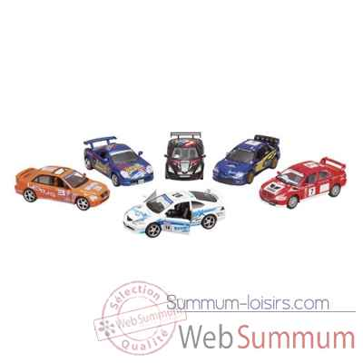 Lot de 6 voitures metal street racers 1:36 a retrofriction Goki -12188