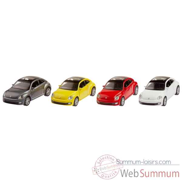 Lot de 4 volkswagen coccinelle (2012) 1:34-39 moteur a retrofriction Goki -12216