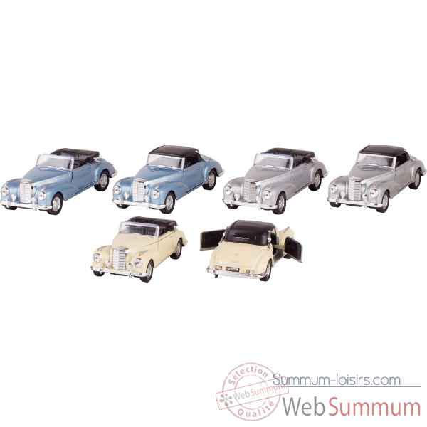 Lot 6 voitures en metal mercedes-benz 300s (1955) 1:34-39 a retrofriction Goki -12170