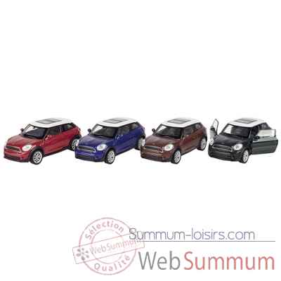 Lot 4 voitures metal mini cooper s paceman 1:34 a retrofriction Goki -12245