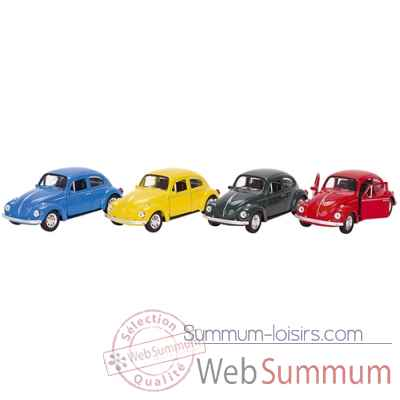Lot 4 voitures metal volkswagen vw coccinelle 1:34 Goki -12130