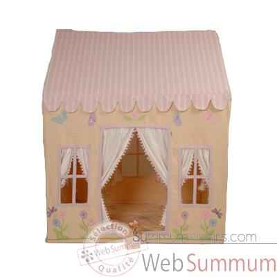 Video Maisonnette tissu theme papillon grand enfant - LBUT