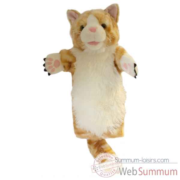 Video Grande marionnette peluche a main - Chat Ginger-26014