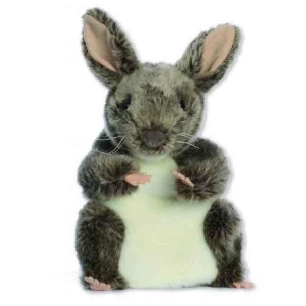 Video Marionnette peluche a main - Lapin gris-24017