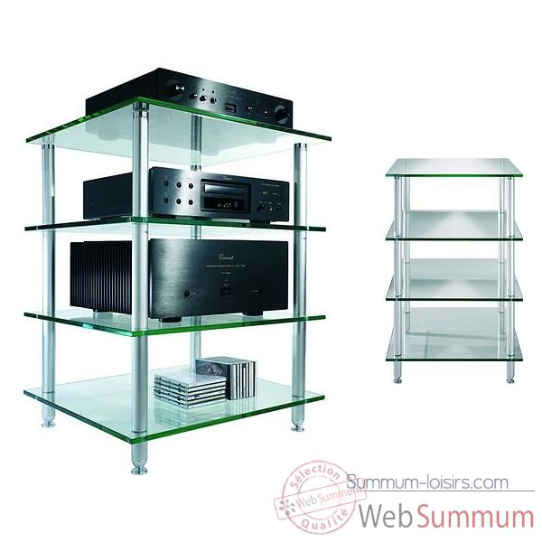 Meuble Audio Video Vincent  Glas H4 - 4 etageres - Verre - 203794