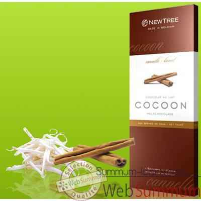 Newtree-Chocolat Lait Cocoon Cannelle, tablette 80g  -341026