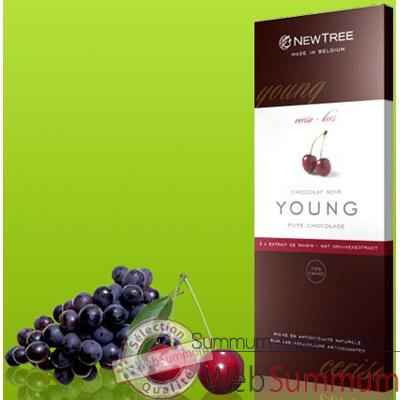 Newtree-Chocolat Noir Young Cerise, tablette 80g-341033