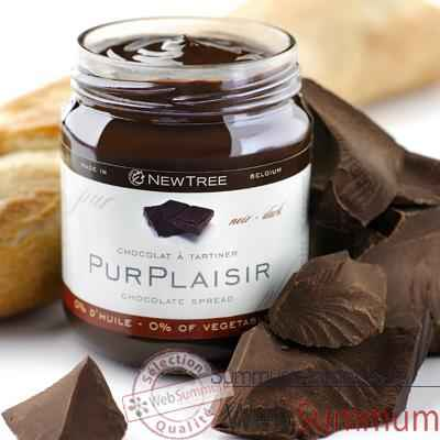 Newtree-Lot de 6 pots Chocolat à tartiner Pur Plaisir, pot de 250 g -341057