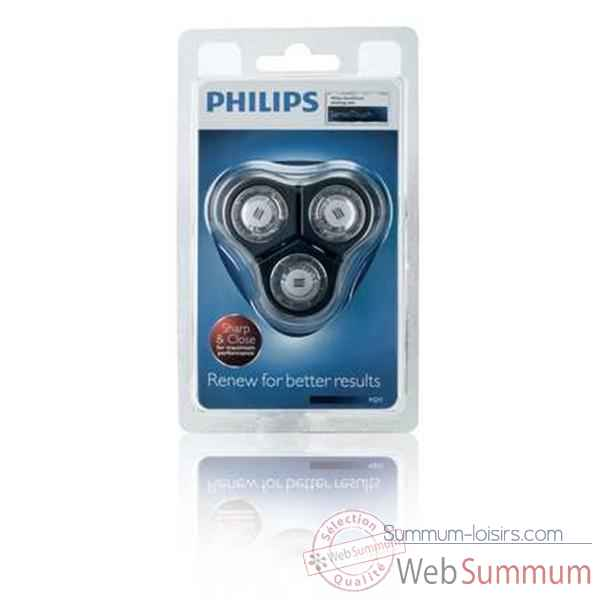 Philips lot de 3 tetes de rasage senso touch 2d + support 4137