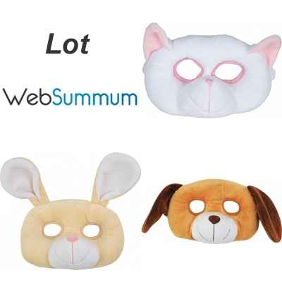 Promotion peluche masque chat chien lapin Histoire d\'Ours -LWS-205