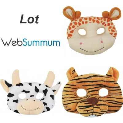 Promotion peluche masque girafe vache tigre Histoire d\'Ours -LWS-209