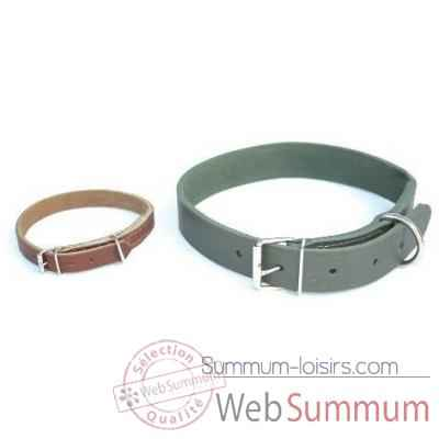 Collier cuir en huile 31mm l. 70cm Sellerie Canine Vendeenne 83132