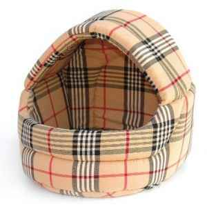 Corbeille dome tissu interieur mousse 40cmx40cm Sellerie Canine Vendeenne 10540