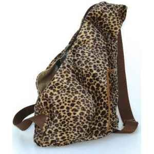 Sac banane tissu panthere double h. 30cm Sellerie Canine Vendeenne 12640