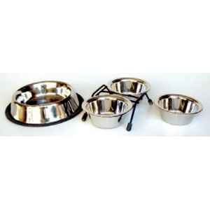 Support de 2 gamelles inox 11 cms   Sellerie Canine Vendeenne 16120