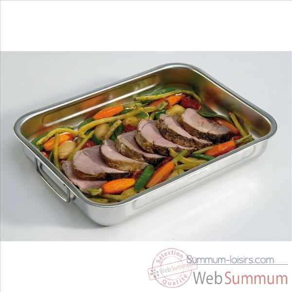 Steel pan plat a four carre en inox 36 x36 cm 256030