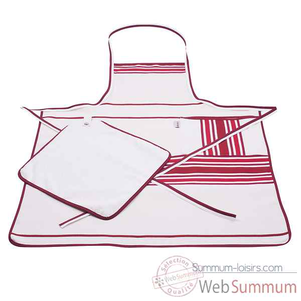 Tablier chef Artiga Corda Coton Rouille Rouge